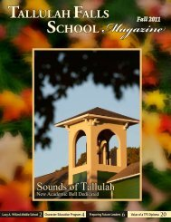 Fall 2011 Magazine - Tallulah Falls School