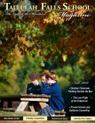Fall 2012 Magazine - Tallulah Falls School