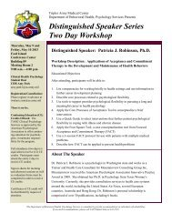 Distinguished Speaker Series - Tripler Army Medical Center - U.S. ...