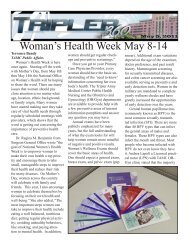 Woman's Health Week May 8-14 - Tripler Army Medical Center ...