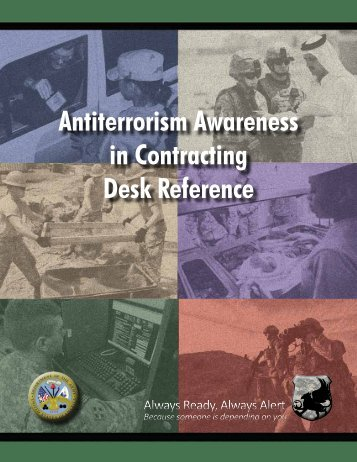 Antiterrorism Awareness in Contracting Desk Reference
