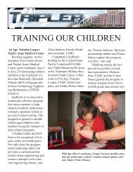TRAINING OUR CHILDREN - Tripler Army Medical Center - U.S. Army