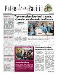 Tripler receives low-level trauma, strives for excellence in healthcare