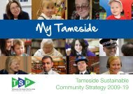 Tameside Sustainable Community Strategy 2009-19