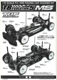 1/10 scale r/c 4wd racing car chassis kit - Tamiya