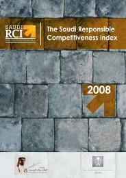 The Saudi Responsible Competitiveness Index 2008 - Tamkeen ...