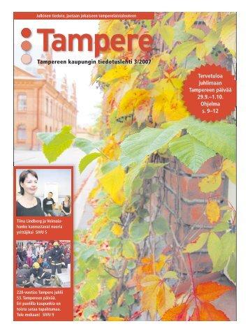 Tervetuloa juhlimaan Tampereen päivää 29.9.–1.10. Ohjelma s. 9 ...