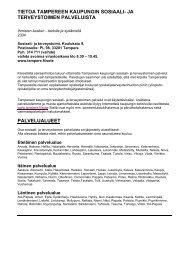 Tietoa Tampereen kaupungin sosiaali- ja terveystoimen palveluista