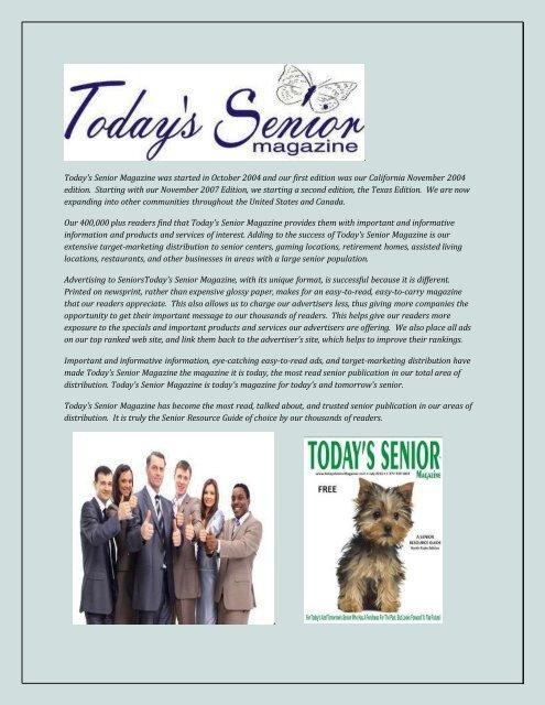Senior citizen magazines popular