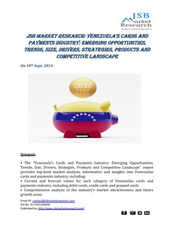 jsb market research venezuela s cards and 3 days ago  do you know exactly how big the market size is for your ecommerce business  how about the socioeconomic, geographic, and internal.