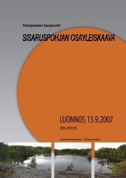 Sisaruspohjan osayleiskaava - Tampereen kaupunki