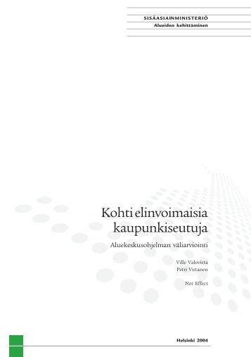 Kohti elinvoimaisia kaupunkiseutuja - Tampereen kaupunki