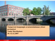Yhdistysten ja yhteisöjen toiminta-avustukset - Tampere