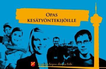 Opas kesätyöntekijöille - Tampere