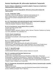 Suomen itsenäisyyden 90. juhlavuoden tapahtumia Tampereella