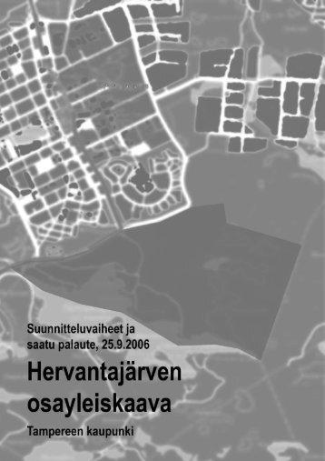 Hervantajärvi, osayleiskaava - Tampereen kaupunki