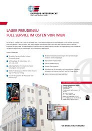 Lager freudenau full Service im osten Von Wien