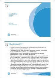 Muuttoliike 2007 Muuttoliike 2007 - Tampereen kaupunki