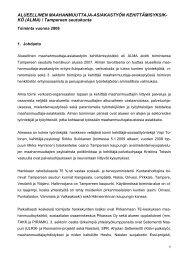 Alma-hankkeen toimintakertomus vuodelta 2008 - Tampereen ...