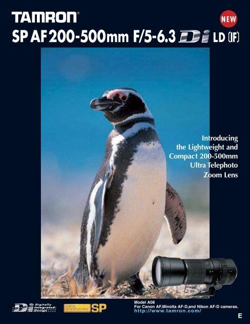 SP AF200-500mm F/5-6.3 - Tamron