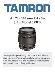 AF 28 - 105 mm F/4 - 5.6 [IF] (Model 179D) - Tamron