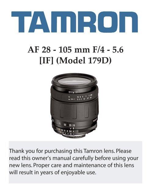 AF 28 - 105 mm F/4 - 5.6 [IF] (Model 179D) - Tamron