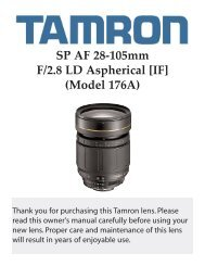 SP AF 28-105mm F/2.8 LD Aspherical [IF] (Model 176A) - Tamron