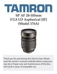 SP AF 28-105mm F/2.8 LD Aspherical [IF] (Model 176A) - Tamron
