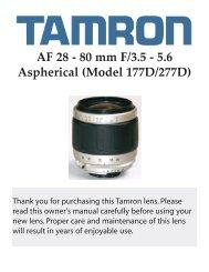 AF 28-80mm F/3.5-5.6 Aspherical - Tamron
