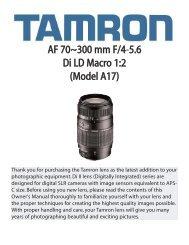 AF 70~300 mm F/4-5.6 Di LD Macro 1:2 (Model A17) - Tamron