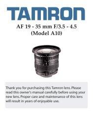 AF 19 - 35 mm F/3.5 - 4.5 (Model A10) - Tamron