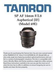 SP AF 14mm F/2.8 Aspherical [IF] (Model 69E) - Tamron