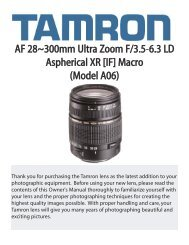 AF 28~300mm Ultra Zoom F/3.5-6.3 LD Aspherical XR [IF ... - Tamron