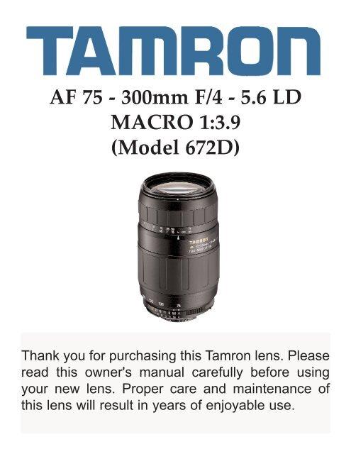 AF 75 - 300mm F/4 - 5.6 LD MACRO 1:3.9 (Model 672D) - Tamron