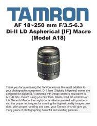 AF 18~250 mm F/3.5-6.3 Di-II LD Aspherical [IF] - Tamron