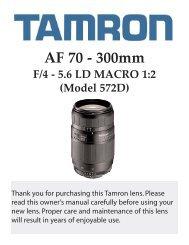 AF 70-300mm F/4-5.6 LD 1:2 Macro (572D) - Tamron