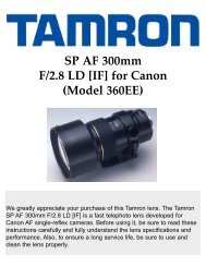 SP AF 300mm F/2.8 LD [IF] for Canon (Model 360EE) - Tamron
