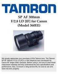 SP AF 300mm F/2.8 LD [IF] for Canon (Model 360EE) - Tamron