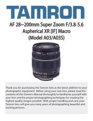 AF 28~200mm Super Zoom F/3.8-5.6 Aspherical XR [IF ... - Tamron