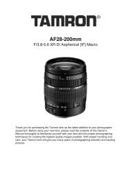 28-200mm F/3.8-5.6 XR Di Aspherical (IF) (A031) - Tamron