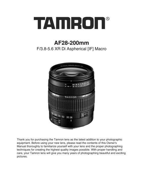 28-200mm F/3.8-5.6 XR Di Aspherical (IF) (A031) - Tamron