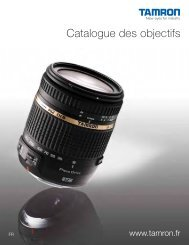 Catalogue des objectifs - Tamron