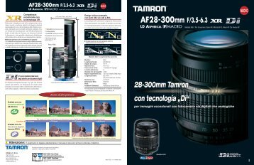 """28-300mm Tamron con tecnologia """"Di"""""""