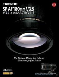 Prospekt Tamron AF 180Macro - blende7
