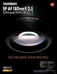 Catalogue 180mm F/3,5 (Model B01) - Tamron