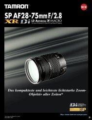 Prospekt Tamron AF 28-75XR - blende7
