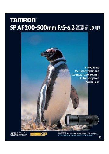 SP AF200-500mm F/5-6.3 - Tamron Europe