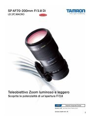 Catalogo 70-200mm F/2,8 (Model A001 - Tamron Europe