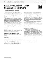 KODAK VISION2 100T Color Negative Film 5212 / 7212