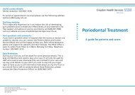 Periodontal Treatment - Croydon Health Services NHS Trust